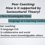Sociocultural Learning and Coaching