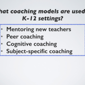 Common K-12 Coaching Models