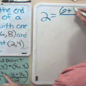 Applying the Midpoint Formula with One Endpoint