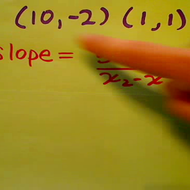Determining the Slope of a Line