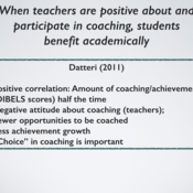 Effects of Instructional Coaching on Teachers and Instruction
