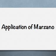 Application of Marzano (case study/example)