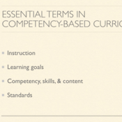 Essential Terms in Competency Based Curriculum