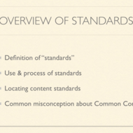 Overview of Content Standards