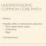 Understanding Common Core Math