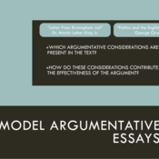 Model Argumentative Essays