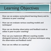 """Summary of  """"Apply Coaching Models and Techniques to Improve Professional Practice."""""""