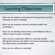 "Summary of  ""Apply Coaching Models and Techniques to Improve Professional Practice."""