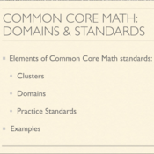 Common Core Math: Domains and Standards Explained