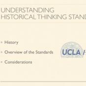 Understanding Historical Thinking Standards