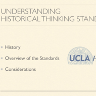 Understanding Historical Thinking Standards