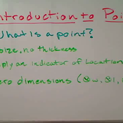 Introduction to Points