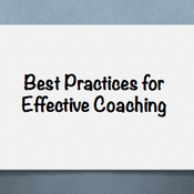 Best Practices for Effective Coaching