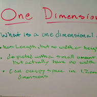 One Dimension