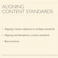 Aligning Standards Based Instruction