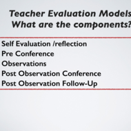 The Components and Process of Teacher Evaluation 1