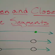 Open and Closed Line Segments
