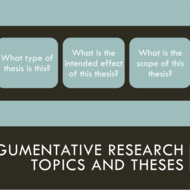 Argumentative Research Topics and Theses