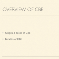 Overview of CBE