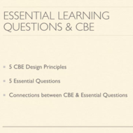 Essential Learning Questions and CBE