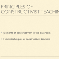 5 Principles of Constructivist Teaching