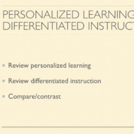 Personalized Learning and Differentiated Instruction