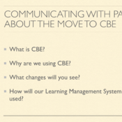 Communicating the Move to CBE to Parents