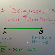 Line Segments and Distance