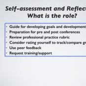 The role of reflection and self-assessment in teacher evaluation