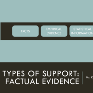Types of Support: Factual Evidence