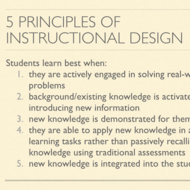 5 Principles of Instructional Design