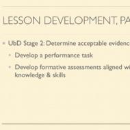 Model Lesson Development - Part 2