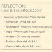 Reflection: CBE and Technology