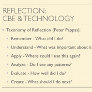 Reflection: CBE and Technology