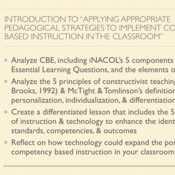 """Introduction to """"Applying Appropriate Pedagogical Strategies to Implement Competency Based Instructi"""