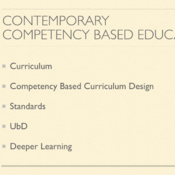 Contemporary Competency Based Education