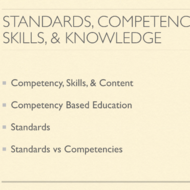 Standards, Competencies, Knowledge and Skills