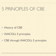 Competency Based Education and iNacol's 5 Principles