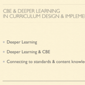 Competency Based Education and Deeper Learning in Curriculum Design and Implementation