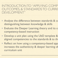 "Introduction to ""Applying Competencies, Outcomes, and Standards to Curriculum Development"