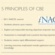 Using iNacol's 5 CBE Design Principles in Curriculum Development and Implementation