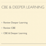 Compare and Contrast CBE and Deeper Learning in Curriculum Design and Implementation