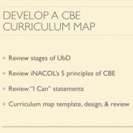 Develop a CBE Competency Based Curriculum Map