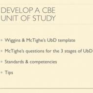 Develop a CBE Unit of Study