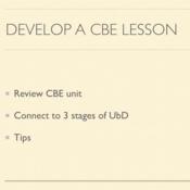 Develop a CBE Lesson
