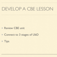 Develop a CBE Lesson