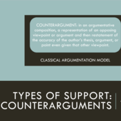 Types of Support: Counterarguments