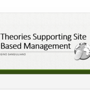 Theories Supporting Site Based Management