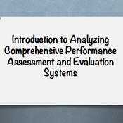 "Introduction to ""Analyze comprehensive performance assessment and evaluation systems"""