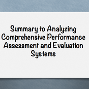 "Summary of ""Analyze comprehensive performance assessment and evaluation systems"""